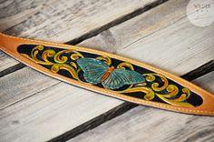 Hund: Halsbänder - Windhund-Halsband * Butterfly * Leder punziert - ein Designerstück von Wilder-Dog-Collars bei DaWanda