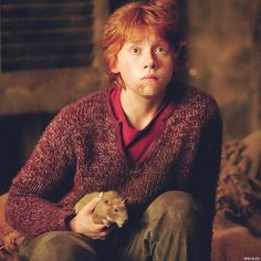Ron and Scabbers (Wormtail) ~  Prisoner of Azkaban
