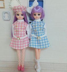 昨日作ったワンピース #リカちゃん#licca#ハンドメイド#handmade#ファッション#fashion#双子#twins