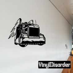 Semi Truck Wall Decal - Vinyl Decal - Car Decal - DC 039
