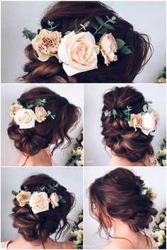 Prettiest Spring Ideas---updo wedding hairstyles with blush roses, diy boho wedding hair accessories, garden wedding. - Prettiest Spring Ideas—updo wedding hairstyles with blush roses, diy boho wedding hair accessories, garden wedding flowers - Wedding Hairstyles For Long Hair, Wedding Hair And Makeup, Wedding Updo, Wedding Hair Accessories, Bridesmaids Hairstyles, Rustic Wedding Hairstyles, Wedding Nails, Bridal Updo, Vail Wedding