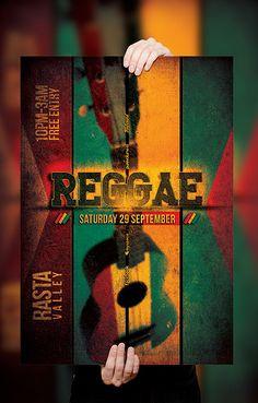 PSD Reggae Poster / Flyer Template v.2