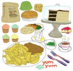 food illu by Sanaa-k