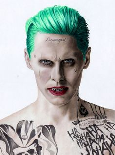 Colored Pencil Drawing of Jared Leto as The Joker by JasminaSusak