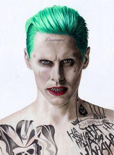 Colored Pencil Drawing of Jared Leto as The Joker by JasminaSusak