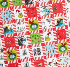 Dr. Seuss How the Grinch Stole Christmas Quilt Handmade by TBQSC
