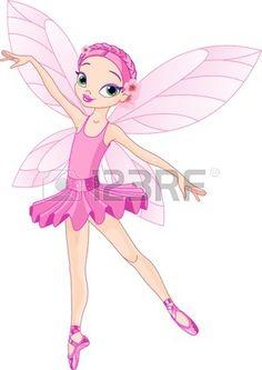 Pink Cute de bailarina de hadas de danza  photo