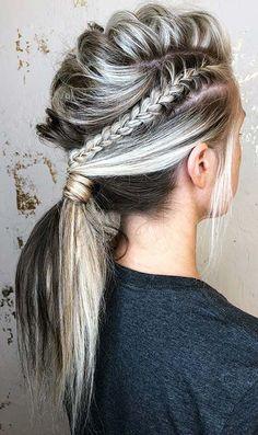 Half Up Half Down Hairstyle Weddinghair Hairstyle Halfup Wedding - half ponytail hairstyles ponytail hairstyles bridesmaid Half Ponytail, Braided Ponytail Hairstyles, Weave Hairstyles, Wedding Hairstyles, Mohawk Ponytail, Viking Hairstyles, Faux Hawk Hairstyles, Teenage Hairstyles, Pretty Hairstyles