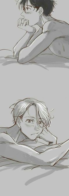 Victor can't take his eyes off Yuri, how cute >-<