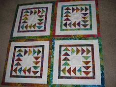The Nifty Stitcher: My Batik Lap Quilt