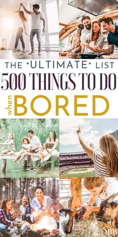 500 Things to Do When Bored - The Ultimate List - The Busy Budgeter - - This ultimate list of things to do when bored is broken down into seven categories including things to do that make money and things to do with kids. Things To Do Inside, Things To Do With Your Boyfriend, Things To Do At Home, Things To Do Alone, Free Things To Do, Fun Things, What To Do When Bored, Things To Do When Bored For Teens, Bored At Home