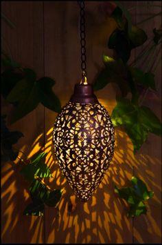 NOMA Garden Art | Modern Metallic Hanging Lantern | Noma.co.uk