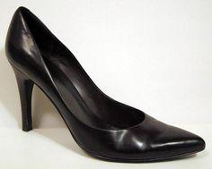 Nine West 'Gaffer' Brown Leather Stiletto Pump Size 10M #NineWest #Stilettos