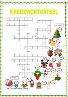 Dieses Kreuzworträtsel endet meine Serie Weihnachten. Sie können es als Ablschluss für die ganze Klasse geben, oder für einige Schüler, die schneller mit ihren Übungen fertig sind. Für junge Schüler gedacht.https://de.islcollective.com/mypage/resources?Tags=Weihnachten&searchworksheet=GO&type=Printables&id=5163 - DaF Arbeitsblätter