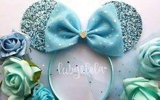Pre-Order Cinderella Inspired Minnie Mouse ears by lubyandlola