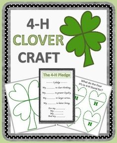 This product is designed for Cloverbud 4-H members to introduce them to the 4-H pledge and the meaning of the four H's in 4-H.