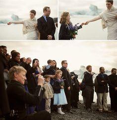Icelandic Glacier Wedding: Rebecca + Ymir