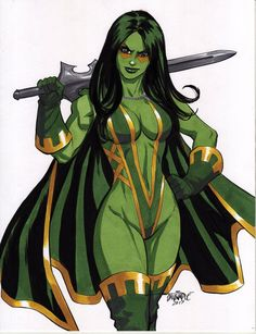 "thebestofwomenincomics: "" Friday Feature: Scott Dalrymple Gamora, daughter of Thanos. Comic Book Heroines, Comic Movies, Comic Book Characters, Marvel Characters, Marvel Comics Art, Marvel Comic Universe, Comics Universe, Marvel Heroes, Marvel Women"