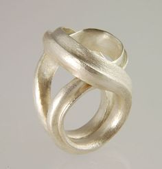 MICHAEL CARBERRY-UK - FlourishRing in forged fine silver