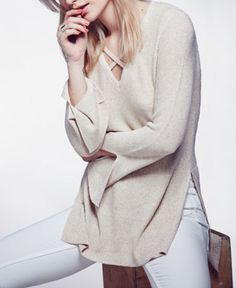 9d5dd990fba Free People Crisscross Tunic Sweater & Reviews - Sweaters - Women - Macy's