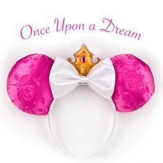 Designer Aurora Ears Inspired by Disney's Sleeping Beauty, Memorable Mouse Aurora Ears, Aurora Mickey ears, Aurora Minnie ears, Aurora Disney ears
