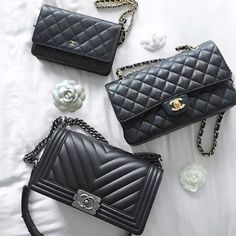 Pretty Classic #Chanel Collection by @elle_and_i #chanellover #chanelwoc #chanelboy #chanelclassicflapbag