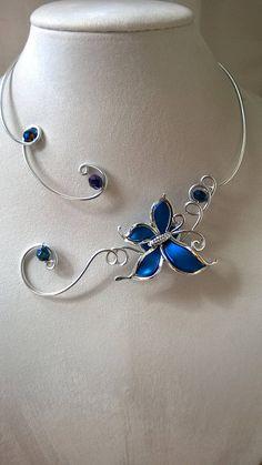 Wedding jewelry set Royal blue wedding jewelry Blue