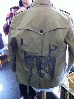 studen's work // redesign male jacket // silk screen print