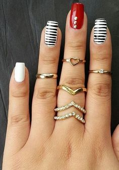 midi rings from Charlotte Russe