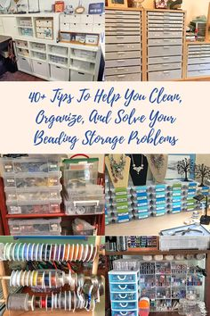 40+ Tips To Help You Clean, Organize, And Solve Your Beading Storage Problems - Soft Flex Company Bead Organization, Bead Storage, Craft Room Storage, Jewellery Storage, Storage Ideas, Craft Rooms, Storage Solutions, Wire Jewellery, Household Organization