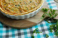 Quiche met rucola, oude kaas en druiven | Francesca Kookt!