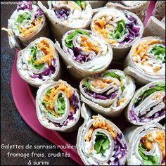 Galettes de sarrasin roulées au fromage frais, crudités / Un apéro light = 36 possibilités ! http://www.mavieencouleurs.fr/cuisine/inspirations/apero-dinatoire-allege-mode-demploi?r=384&utm_source=pinterest%20&utm_medium=social&utm_campaign=contenu-cuisine&utm_content=apero-dinatoire-allege-mode-demploi
