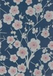 Kirsikkapuu by Ritva Kronlund Interior Wallpaper, Wall Wallpaper, Cherry Blossom Art, Something Blue, Old Houses, Print Patterns, Oriental, Barn, Interior Design