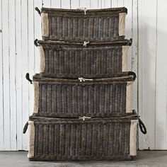 A Collection of Mercantile Baskets - Charcoal Finish - Decorative Accessories - RLH Collection - Products - Ralph Lauren Home - RalphLaurenHome.com