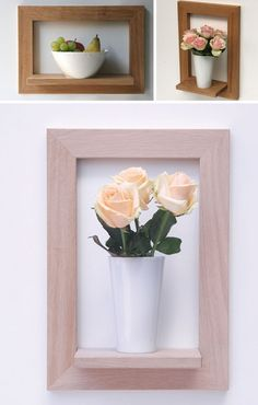 Fun use for a fancy thrifted frame... turn it into a shelf to use as a focal-point!