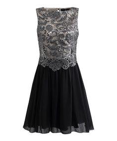 This Black & Silver Ella Dress is perfect! #zulilyfinds