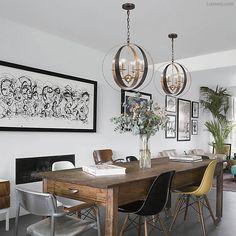 Jonathan Adler Look Mid Century Modern Glam Bronze & Gold Circle Chandelier  #na