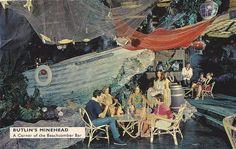 Butlin's Minehead - The Beachcomber Bar vintage nautical mid-century tiki restaurant Vintage Nautical, Nautical Theme, Tiki Restaurant, Restaurant Ideas, Butlins Holidays, Nautical Interior, Disney Enchanted, Tiki Lounge, Birthday Postcards