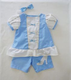 Cinderella Set  Cinderella Costume  Top and Bottom  by LoopsyBaby, $30.00 I love everything in this shop!! <3