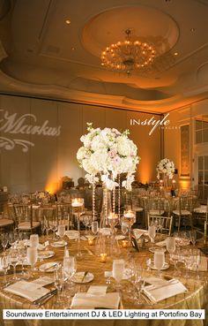 Amazing wedding at Loews Portofino Orlando with DJ & LED Lighting Design by Soundwave Entertainment, djsoundwave.net  Photos by In Style Imagery~