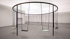 Philippe Malouin creates circular swing set with Caesarstone seats »