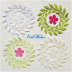 Komplet wykrojników wianek i kwiatek Craft Passion