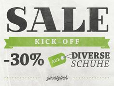 Sale Flyer - Clause Hollensteiner // Simple sign, with simple content. Nice usage of fonts, color and gradients on the entire image.