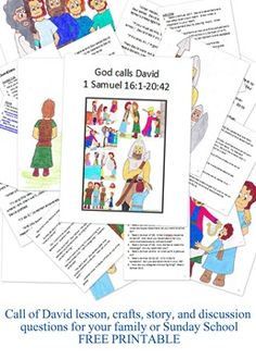 David and Goliath, David and Jonathan, Bible lesson for kids