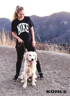Jordan of The Balanced Blonde blog is taking her workout outdoors & inspiring others (both two- and four-legged) to do the same. Featured product includes: Nike knockout tee. #MakeYourMove with Kohl's & learn more about Jordan at TheBalancedBlonde.com.