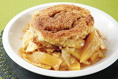 Cinnamon Bun Apple Cobbler recipe - Canadian Living - I haven't tried this yet but it looks super yummy!
