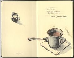 Sketchbook coffee