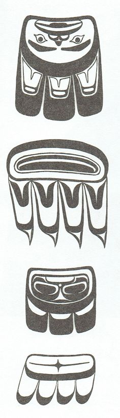 Bird tail designs used in West Coast Native Art.