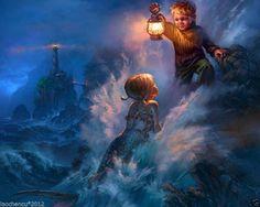 Little Boy Blue painting Little Mermaid Wallpaper, Mermaid Wallpapers, The Little Mermaid, Mermaid Images, Mermaid Photos, Mermaid Gifs, Fantasy Kunst, Fantasy Art, Mermaid Boy