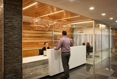 concrete and timber reception  anderson-lloyds-christchurch-offices